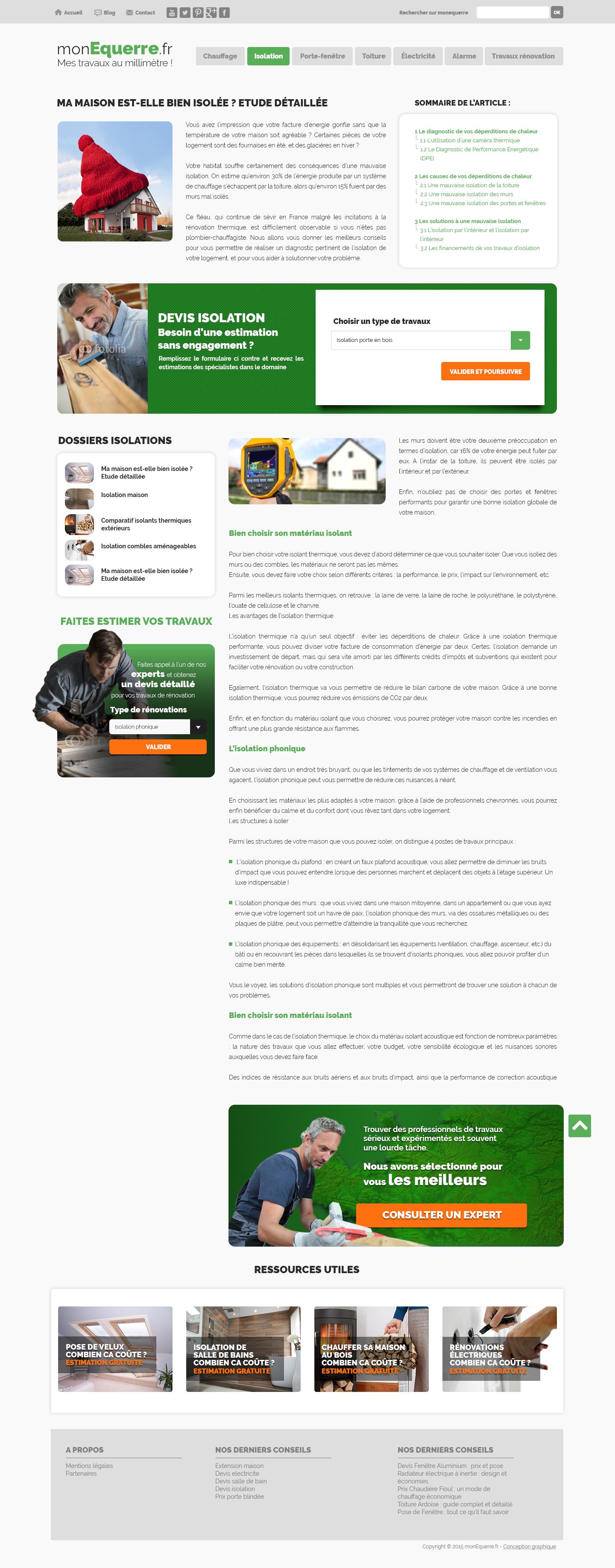 monequerre.fr - Site réalisé par Webdesigner freelance