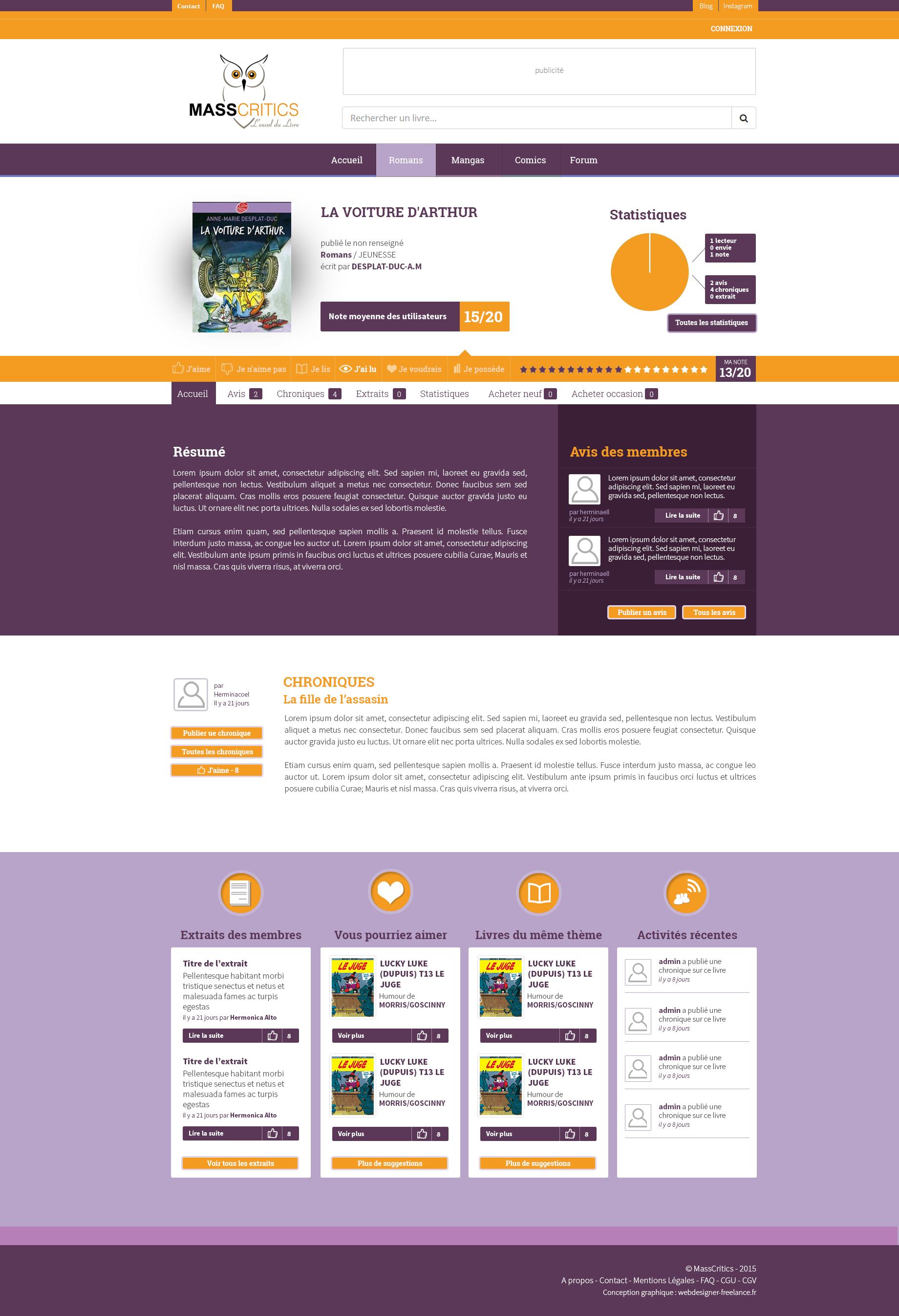 Mass critique - conception graphique du site