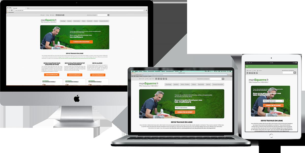 Webdesigner freelance, 10 années d'expertise - Monequerre