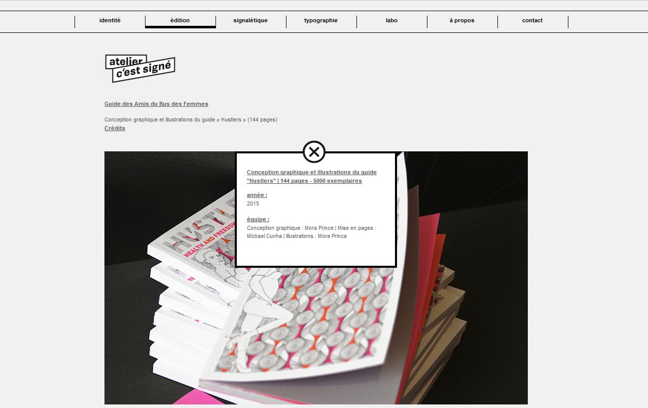 C'est signé - site réalisé par Webdesigner freelance