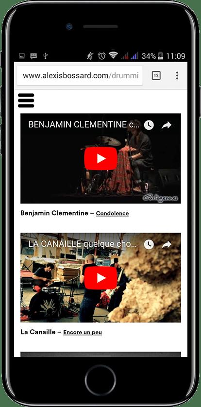 Alexis Bossard - site conçu par Webdesigner freelance