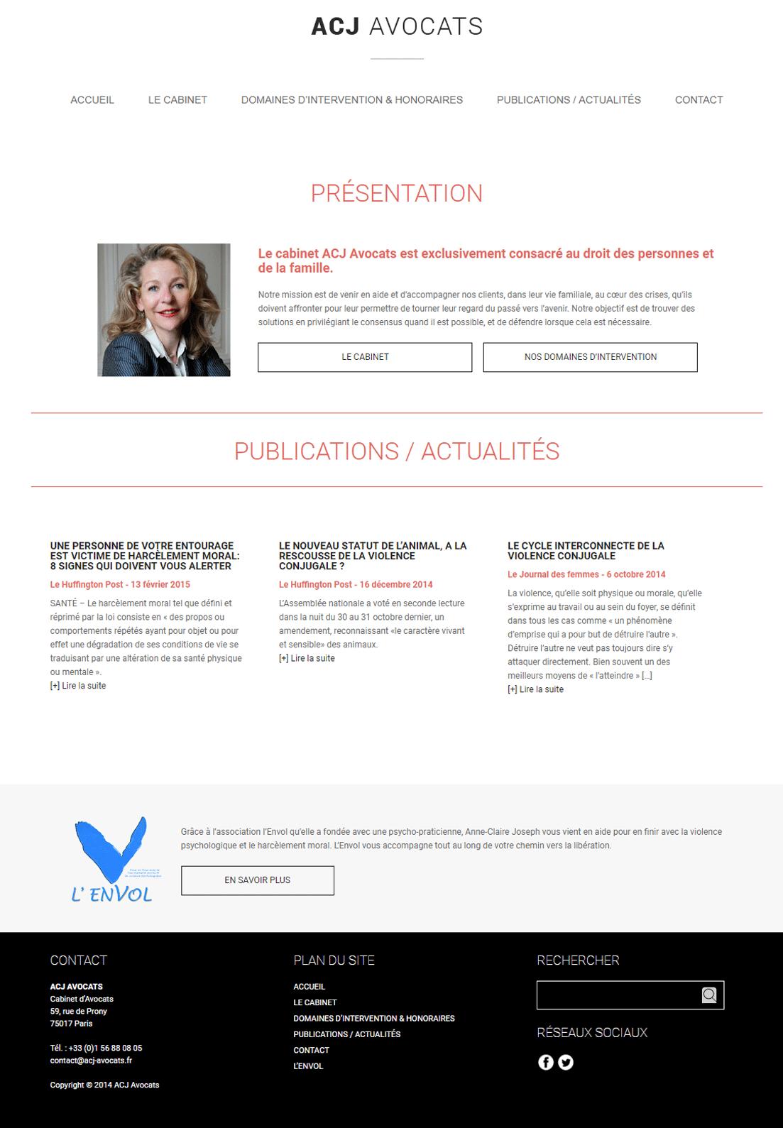 ACJ Avocat - Webdesigner freelance, 10 années d'expertise