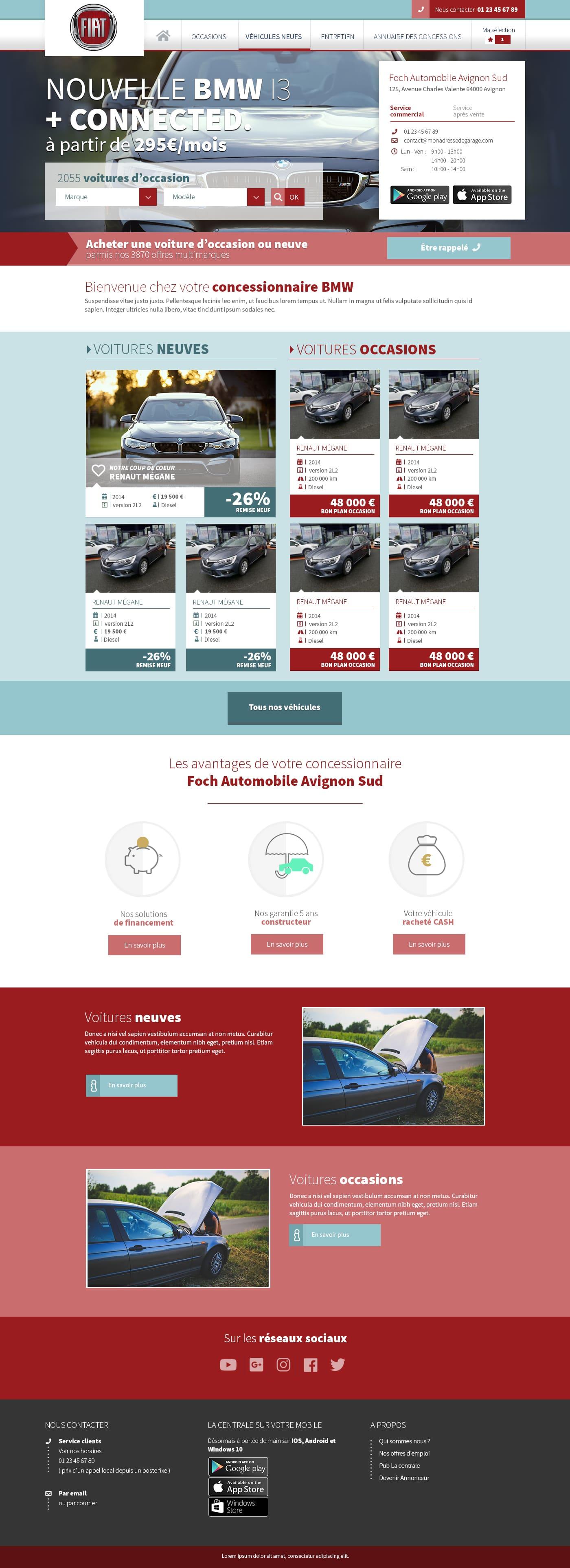 Autocadre - Webdesigner freelance - Page d'accueil