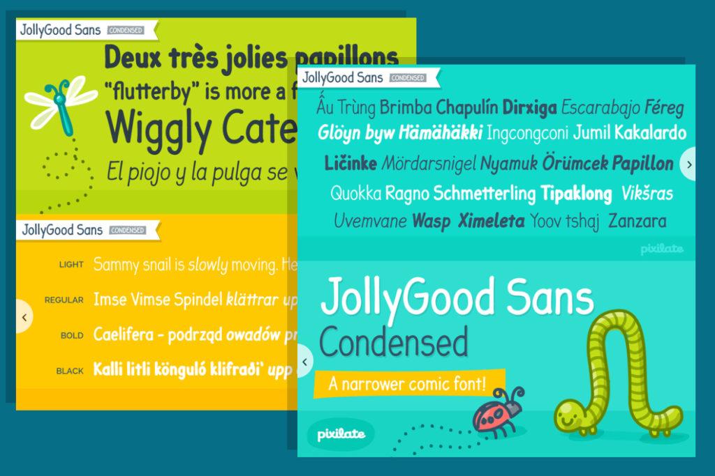 font gratuite Jollygood Sans Condensed disponible en téléchargement gratuit