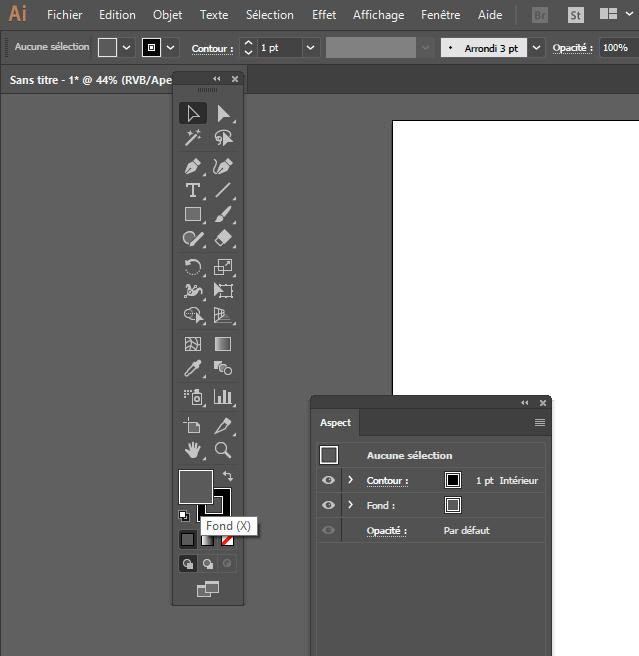 Adobe Illustrator, niveau de gris et couleur