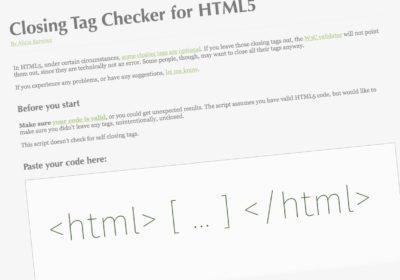 Outil gratuit de test de balises fermantes - webdesigner freelance